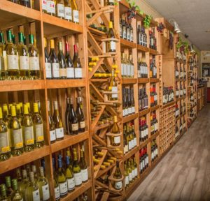 Our handcrafted Wine Wall